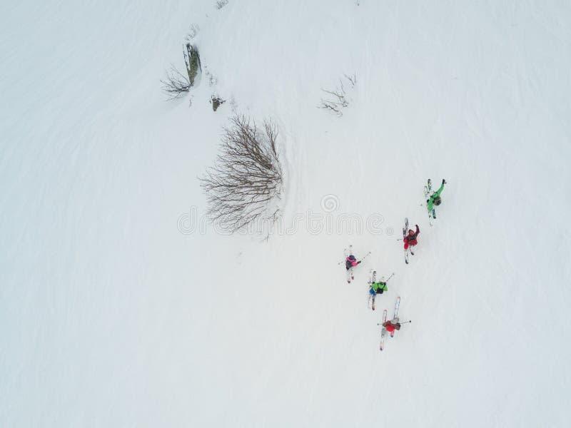 罗莎Khutor滑雪胜地的,索契游人 免版税库存照片
