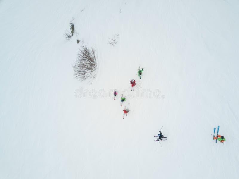 罗莎Khutor滑雪胜地的,索契游人 免版税库存图片