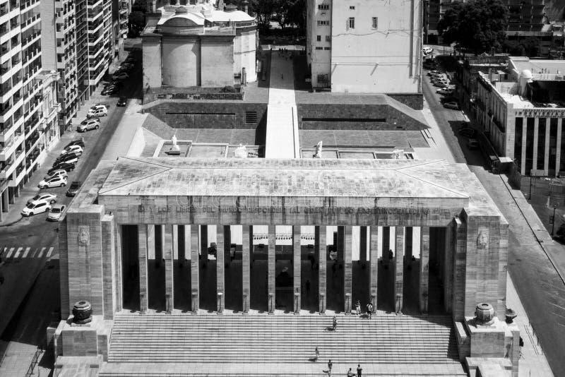 罗萨里奥,阿根廷凯旋式Propylaeum国旗纪念Monumento纳雄奈尔la班杰拉-罗萨里奥,圣塔菲 库存照片