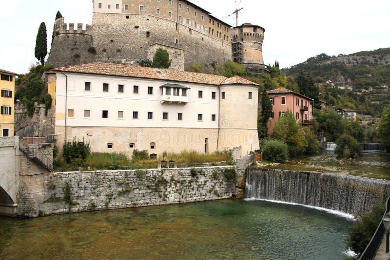 罗韦雷托堡垒在意大利 库存照片
