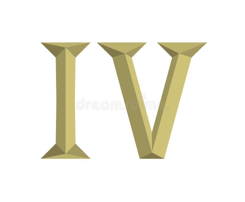 4罗马信件6 向量例证