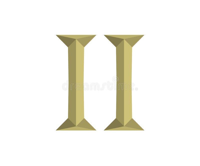 2罗马信件6 向量例证