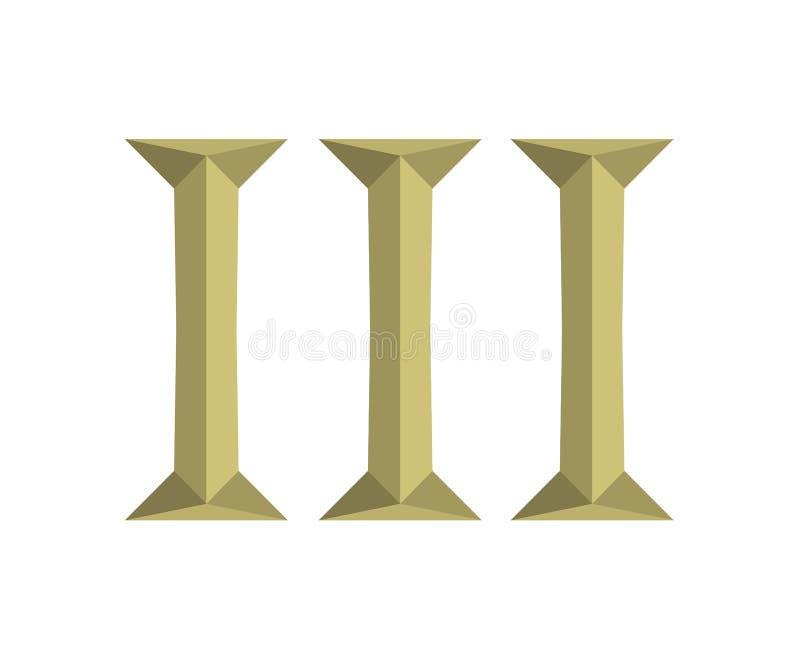 3罗马信件6 向量例证