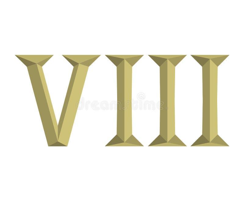 8罗马信件6 向量例证