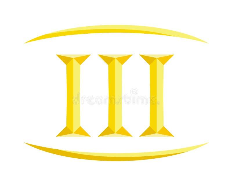 3罗马信件8 库存例证