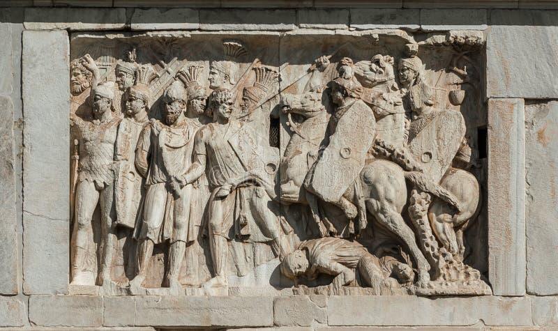 罗马军队对蛮子 免版税库存图片