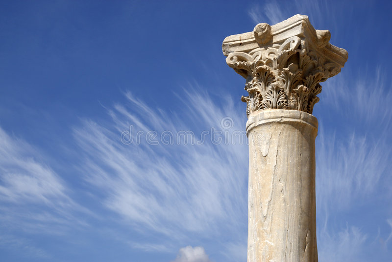 罗马列的详细资料 免版税库存图片