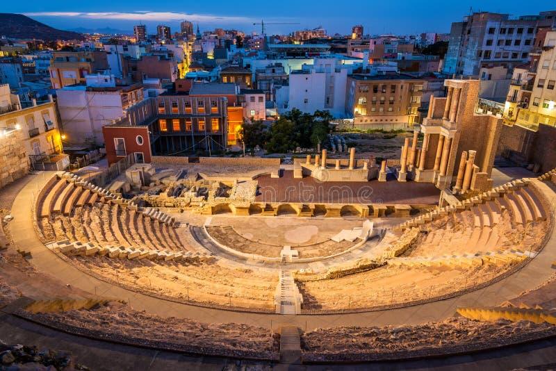 罗马剧院在卡塔赫钠,西班牙 库存图片