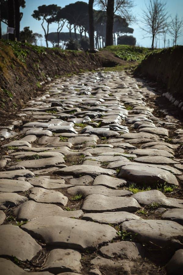 罗马古老的路 库存图片
