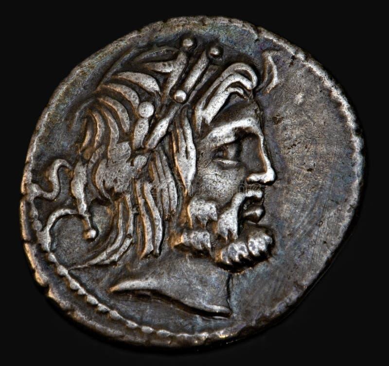 罗马古老硬币的procilius 库存照片