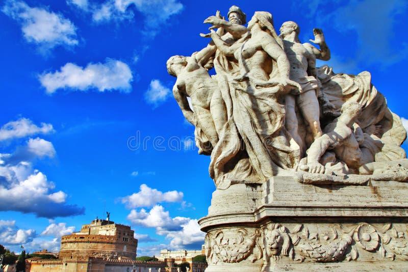 罗马和他伟大的桥梁。 图库摄影