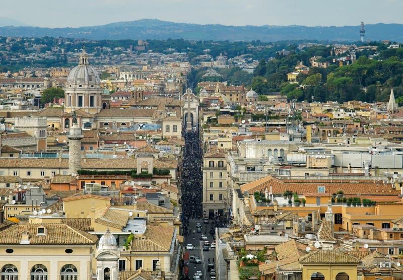 罗马和Corso看法  免版税库存照片