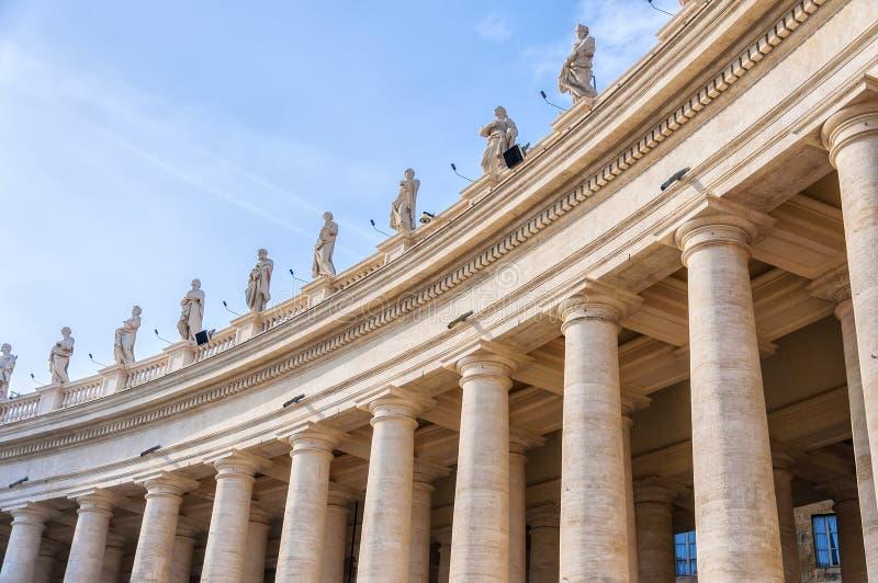 罗马圣彼得柱廊 免版税图库摄影