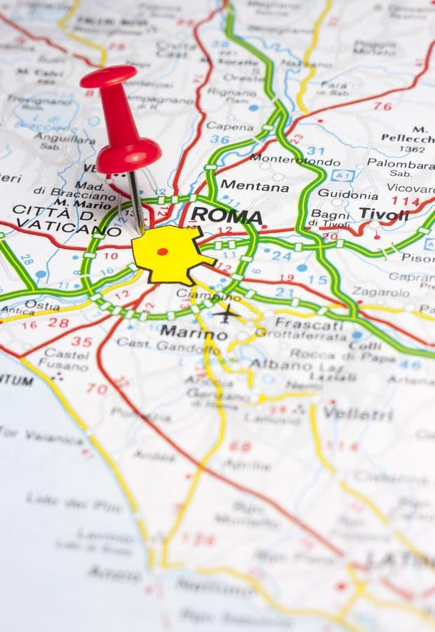 罗马在欧洲地图别住了  免版税图库摄影