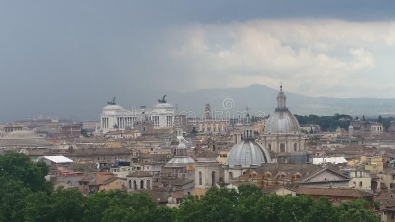 罗马在雨中 库存图片