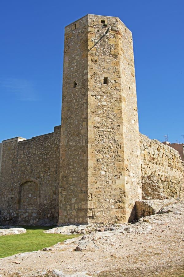 罗马塔在塔拉贡纳,西班牙 免版税库存照片
