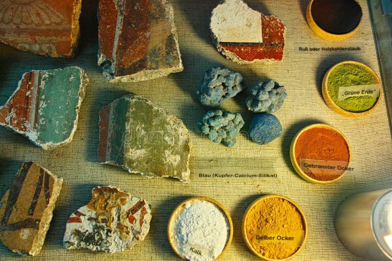 罗马壁画的颜色 库存图片
