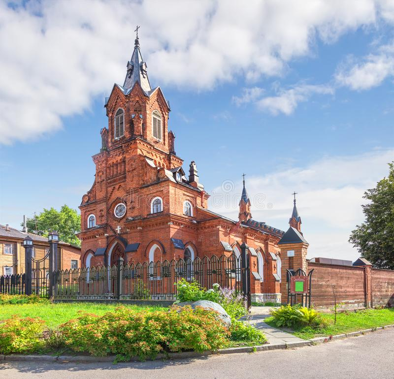 罗马天主教的教会 vladimir 俄国 图库摄影