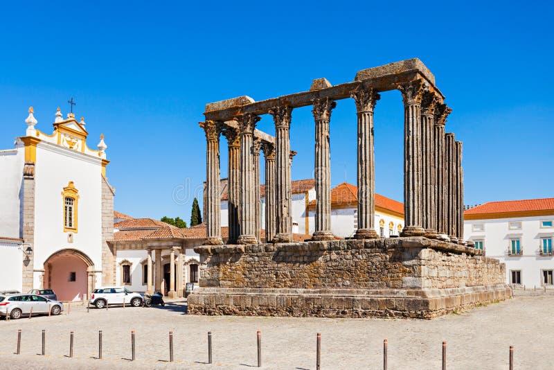 罗马寺庙,埃武拉 免版税库存照片