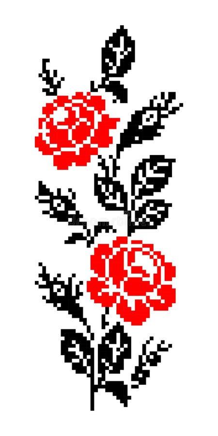 罗马尼亚传统花卉主题 免版税图库摄影
