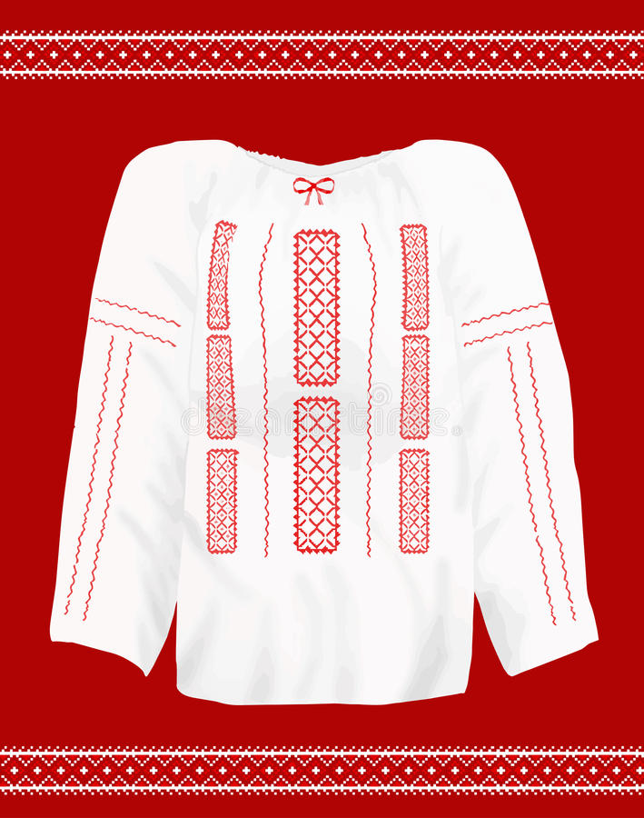 罗马尼亚传统女衬衫 库存例证