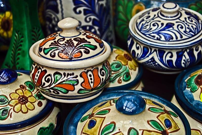 艺术, 蓝色, 小船, 弯脚的, browne, 罐头, 陶瓷, 黏土, 颜色, 上色