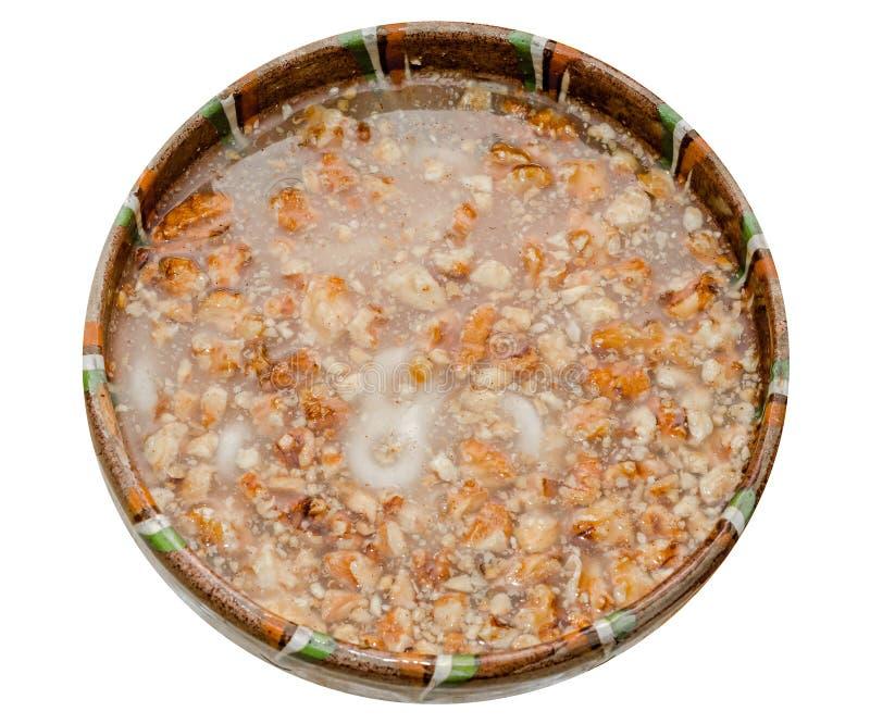 罗马尼亚传统食物告诉了Mucenici,八形状 免版税库存照片