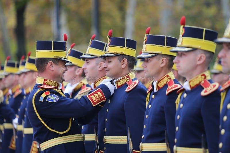 罗马尼亚勇敢者米哈伊第30名卫兵旅团士兵 库存图片