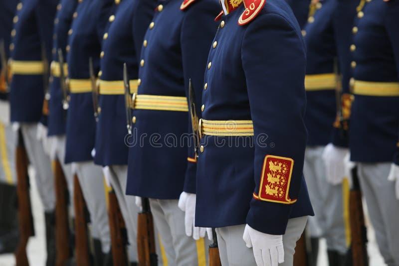罗马尼亚勇敢者米哈伊第30名卫兵旅团士兵 库存照片