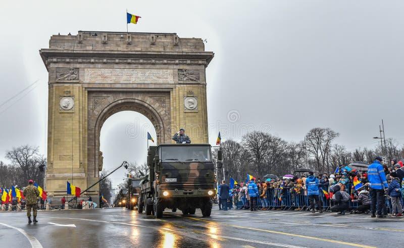 罗马尼亚国庆节, 2017年12月1日 免版税库存图片