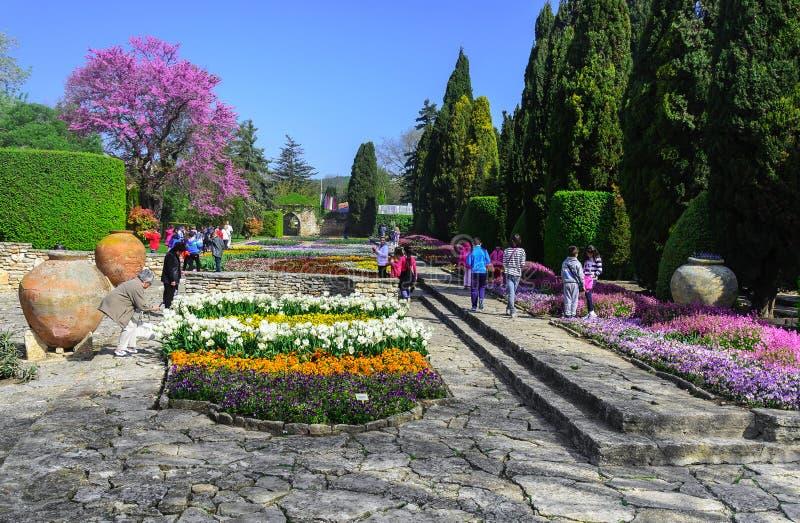 罗马尼亚女王/王后的植物园,巴尔奇克,保加利亚 库存图片
