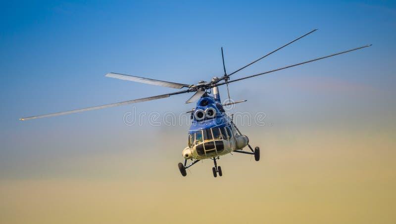 罗马尼亚宪兵队直升机 免版税图库摄影