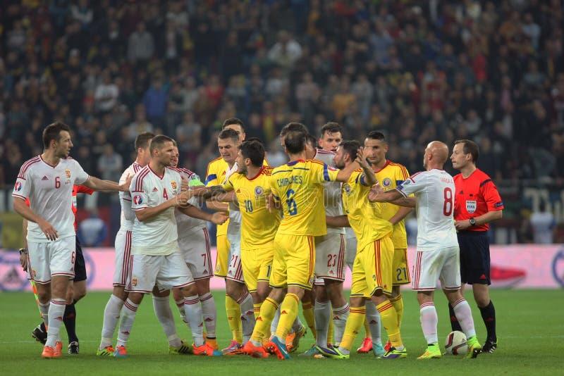 罗马尼亚对匈牙利 库存照片