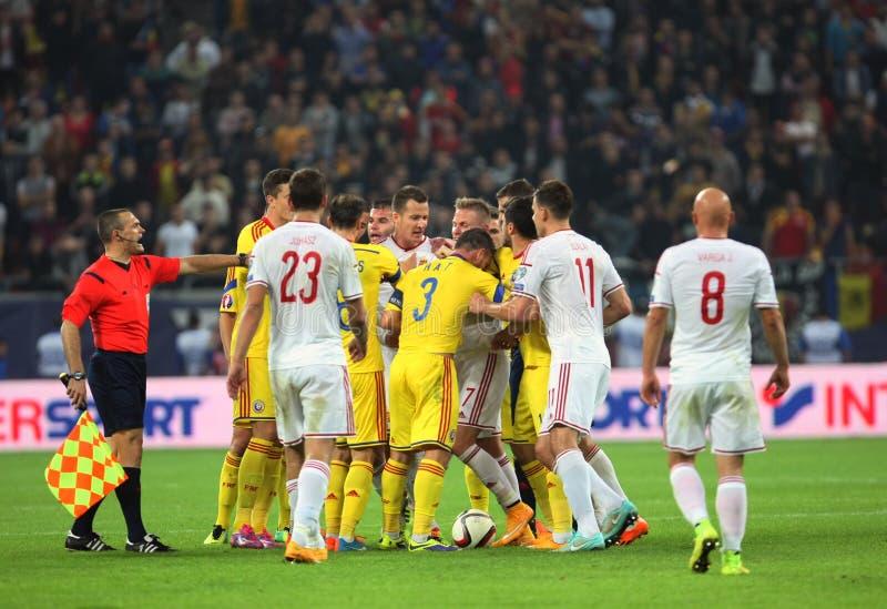 罗马尼亚对匈牙利 免版税库存图片