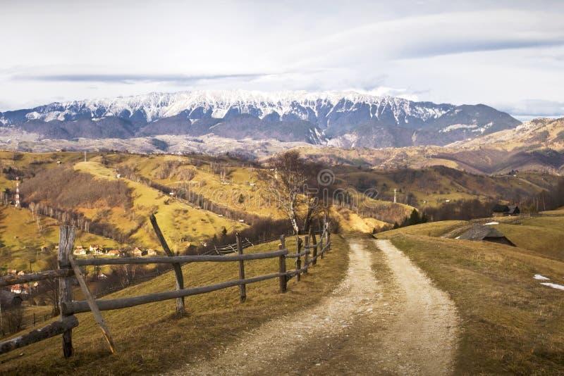 罗马尼亚山风景 库存照片