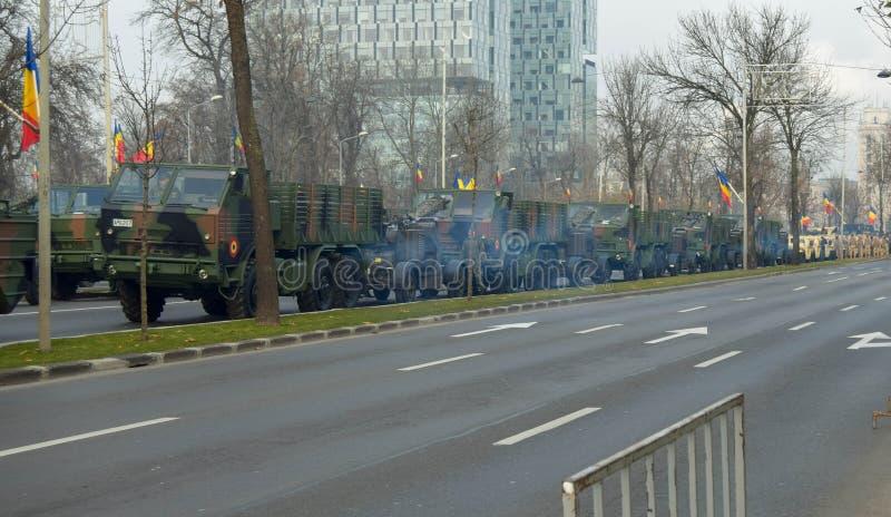 罗马尼亚布加勒斯特 — 2019年12月1日:2019年12月1日罗马尼亚国庆庆典在布查雷斯举行的阅兵式 免版税图库摄影