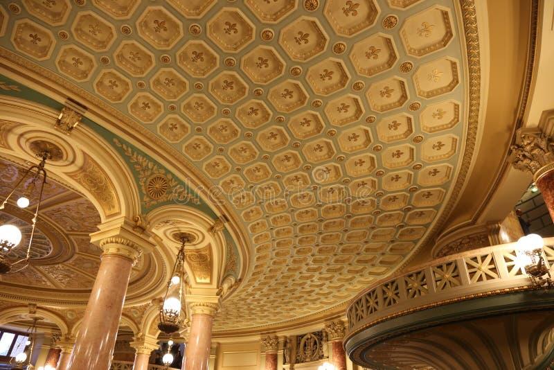 罗马尼亚庙内部 免版税库存图片
