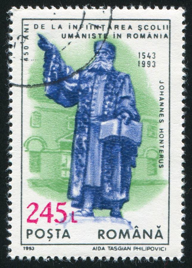 罗马尼亚打印的雕象 免版税库存照片