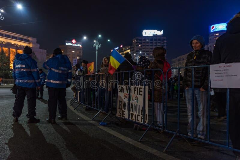 罗马尼亚抗议,天4 图库摄影