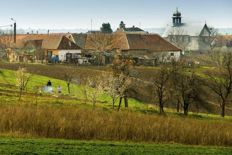 罗马尼亚村庄 免版税库存图片