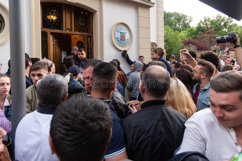 罗马尼亚犹太人散居地投票 免版税库存图片