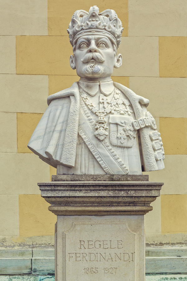 罗马尼亚的费迪南德I国王胸象  库存照片