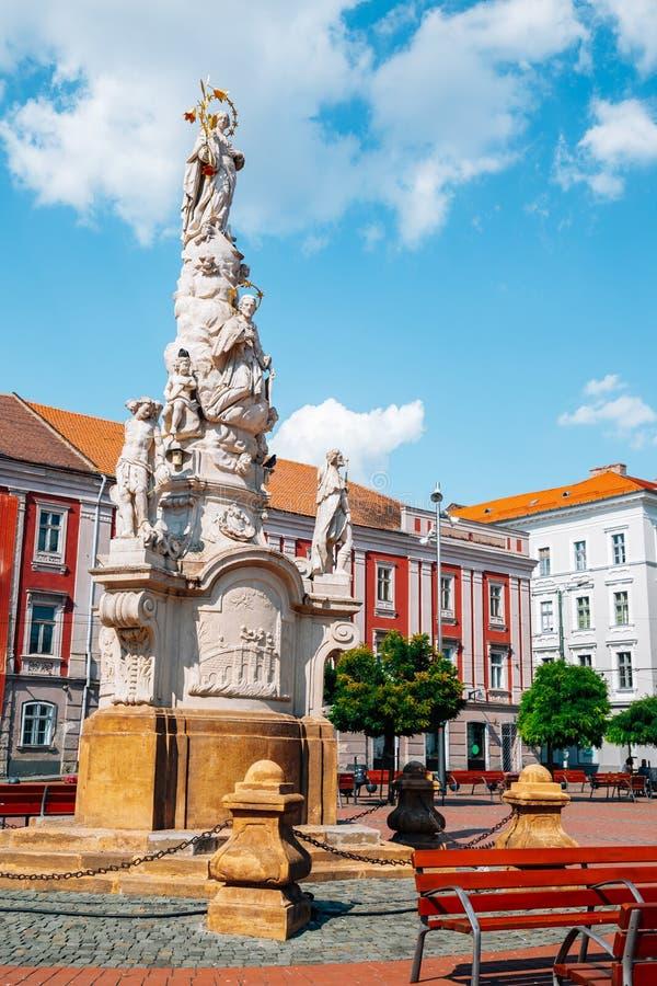 罗马尼亚蒂米什瓦拉的自由广场 库存照片