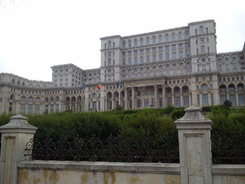 罗马尼亚议会宫殿 免版税库存照片