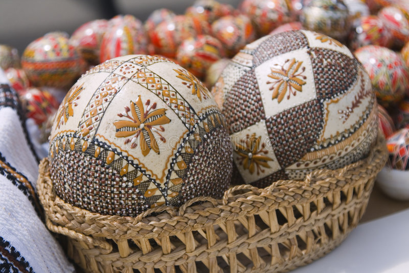 罗马尼亚语的复活节彩蛋 免版税库存图片