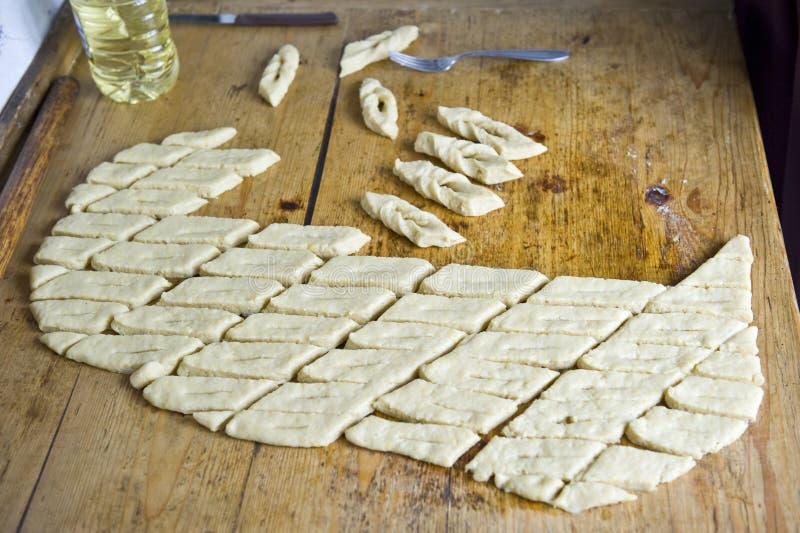 罗马尼亚语的油炸圈饼 免版税库存照片