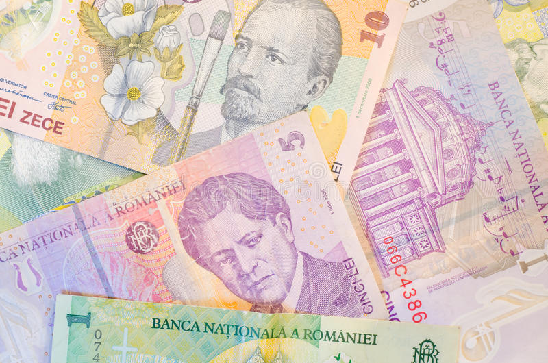 罗马尼亚钞票 免版税库存照片