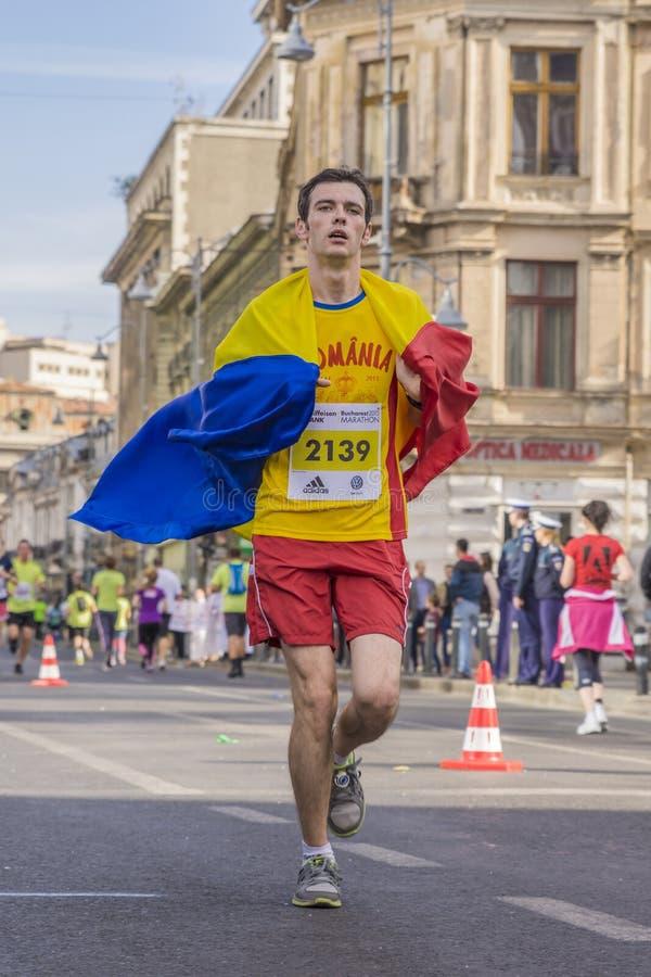 罗马尼亚马拉松运动员 图库摄影