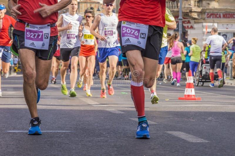 罗马尼亚马拉松运动员 免版税图库摄影