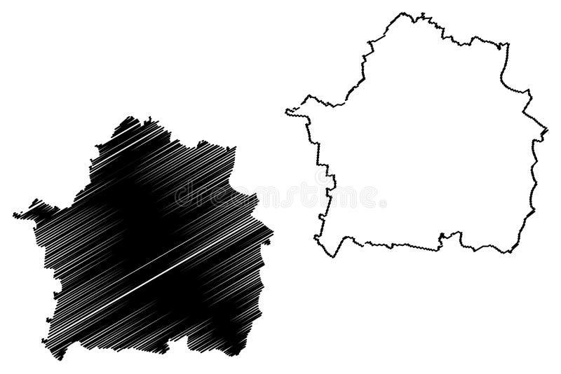 罗马尼亚,东南省的布勒伊拉县管理部门发展区域地图传染媒介例证,杂文剪影布勒伊拉 皇族释放例证